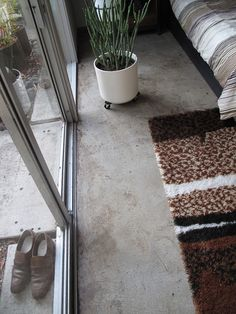 Polished Concrete Floors - inside and out.... creating even more seamlessness for the project !