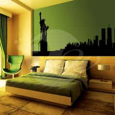 With this Statue Of Liberty Wall Sticker Decal you can decorate your walls in one of the most modern and elegant ways