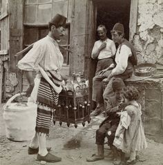 Ice-cream seller, Constantinople (modern name: Istanbul), Turkey, 1898