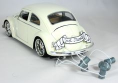Cake Topper/Decor 1959 Ivory VW Beetle Getaway by WishUponAPress, $60.00