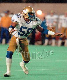 James West Winnipeg Blue Bombers 1986. Photo F. Scott Grant