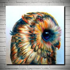 "Pop Art Cute Little Owl High Quality Canvas Print Poster 24X24""  | eBay"