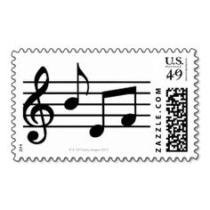 Music Notes Postage Stamps It Is Really Great To Make Each Letter A Special Delivery