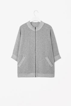 Cotton and wool jacket