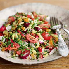 Vegetarian Recepies, Veggie Recipes, New Recipes, Salad Recipes, Healthy Recipes, Superfood Salad, Spring Salad, Clean Eating Dinner, Lebanese Recipes