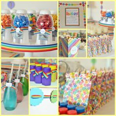EAT DRINK PRETTY: Real party: a rainbow themed   birthday