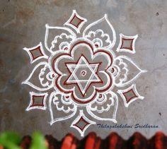 Rangoli Borders, Rangoli Patterns, Rangoli Ideas, Rangoli Designs Diwali, Kolam Rangoli, Indian Rangoli, Easy Rangoli, Free Hand Designs, Free Hand Rangoli Design