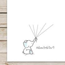 Super cute FREE elephant guest book printable! Super cute addition to a baby shower and a perfect gift for the mama-to-be to display in the nursery!