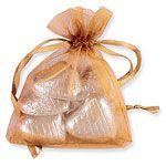 Coral Organza Bags