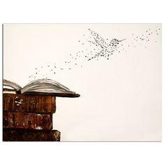 "Typography Hummingbird Art Print - 8 x 10 - Typographic print - ""Fly"" -"