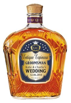 Groomsman or Best Man Gifts Personalized Crown by MAGICPRINTSHOP, $20.00