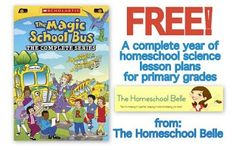 You can download free science lesson plans using the Magic School Bus series at The Homeschool Belle.   These free science lesson plans are based o