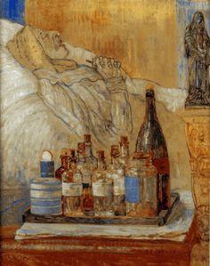 James Ensor, Ma mère morte (My dead Mother), 1915 Maurice Denis, Gustav Klimt, Figure Painting, Painting & Drawing, Moma, James Ensor, Chaim Soutine, Art Nouveau, Organic Art