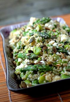 Lovely recipe ! Asparagus couscous and green beans salad