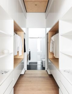 Manly heritage semi cottage renovation, with stunning modern architect design addition. Walk In Closet Design, Bedroom Closet Design, Wardrobe Design, Walk In Robe Designs, Closet Designs, Wardrobe Room, Walk In Wardrobe, Walk Through Closet, Cottage Renovation