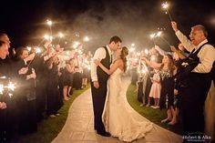 Candlewood Inn Brookfield CT Wedding Photos | CT Best Wedding Photographer | Sparklers Exit