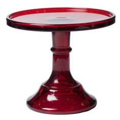 ruby red glass cake stand!  Love!!!