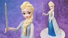 A FREE tutorial on how to make a cake of Elsa from Frozen.