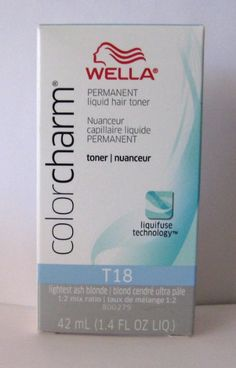 Wella Color Charm T18  A good toner for some! I must STRESS, your hair must be VERY light almost white blonde for this to make a difference. If the hair is very yellow to orange it won't do much or anything! This product does work and works well but only when used correctly. It can be done on dry hair for a more pigmented/permanent effect. Good for in between up keep.