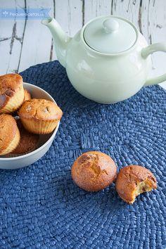 Muffins de harina de maíz con chocolate, ¡exquisitos!