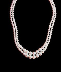 Vintage Faux Pearl  Double Strand Necklace by HeidisTreasureChest