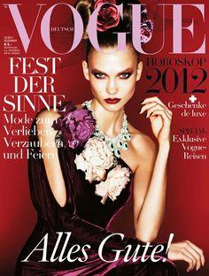 Karlie Kloss by Alexei Lubomirski for Vogue Deutsch December 2011