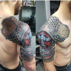 Amazing Tattoo Design Ideas For Men 2019 29 tattoos pierna tattoos women tattoos bracelet tattoos hombro tattoos brazalete Hahn Tattoo, Schulterpanzer Tattoo, Crest Tattoo, Bad Tattoos, Celtic Tattoos, Viking Tattoos, Life Tattoos, Body Art Tattoos, Tribal Tattoos