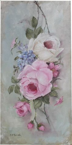 """Original Painting - """"Study of Old Rose Painting"""" - Postage is included Australia Wide Back Painting, China Painting, Painting & Drawing, Vintage Rosen, Vintage Art, Art Floral, Deco Rose, Painted Books, Wow Art"""