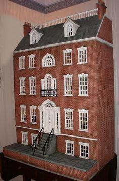 Brick Georgian dollshouse Jo Arts