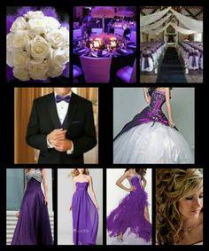 Purple themed wedding plans