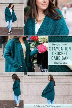5179b00fae195 The Staycation Women s Crochet Cardigan Pattern - Free Pattern + tutorial