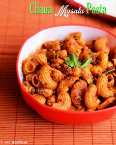 Chana masala pasta recipe | Indian style pasta | Rak's Kitchen