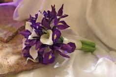 BB0527-Purple Iris and White Calla