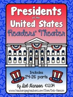 Kids love Readers' Theater, and here's one you can do especially on Presidents Day, or any day during the school year!! It is written for 24 students if you want to do it as a whole class activity, but the parts can easily be divided among a smaller group of students.  The main idea of the Reader's Theater is to get students interested in American history. Most of the facts in this reader's theater are those little known facts that are very interesting!  $