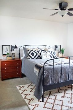 modern southwest inspired master bedroom The Crafted Sparrow
