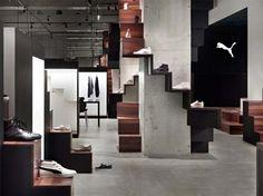 PUMA Shoes Store|Nendo  Climbing plant on concrete column
