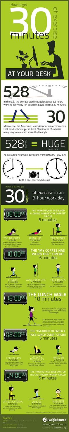 How to get 30 minutes of exercise at your desk
