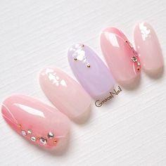 ネイル ネイル in 2020 Gel Nail Designs, Cute Nail Designs, Purple Nails, Nude Nails, Perfect Nails, Gorgeous Nails, Kawaii Nail Art, Posh Nails, Japanese Nail Art