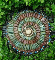 Meticulous stone artwork <3 Schoolhouse Country Gardens