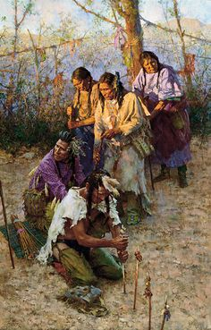 Offerings to the Little People ~ by Howard Terpning