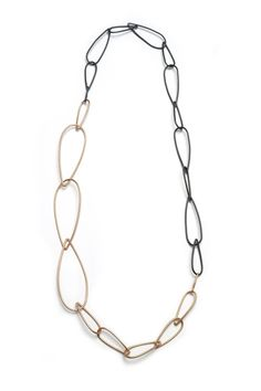long Modular Combo necklace // long modern chain link necklace