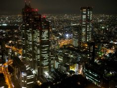 Tokyo free view from Tokyo Metropolitan Government Building in Shinjuku, the best area to stay in Tokyo