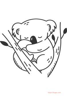 Kawaii Koala Animal coloring page for kids Coloring Apps, Animal Coloring Pages, Coloring Pages For Kids, Adult Coloring, Christmas Unicorn, Unicorn Halloween, Halloween Books, Instagram Logo, Lol Dolls