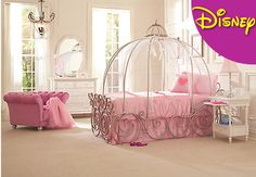 Disney Princess 4 Pc Twin Carriage Bed from Rooms To Go. Shop more products from Rooms To Go on Wanelo. Disney Princess Carriage Bed, Disney Princess Bedroom, Princess Bedrooms, Disney Bedrooms, Pink Princess, Cinderella Carriage, Princess Beds, Cinderella Bedroom, Princess Disney