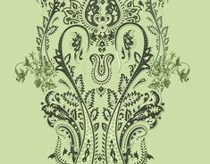 Embroded necklines on Behance Set Design, Print Design, Paisley Art, Kurti Neck, Border Design, Panel, Adobe Photoshop, Textile Design, Ethnic
