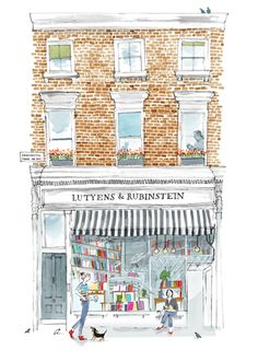 Alice Tait - Notting Hill Book Shop #illustration