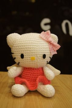 Amigurumi Hand Crocheted Hello Kitty