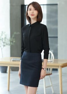 Korean Fashion Dress, All Fashion, Colorful Fashion, Fashion Dresses, Dress Skirt, Dress Up, Korean Short Hair, Corporate Outfits, Office Looks