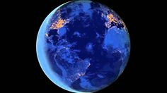 Rotation of Earth seen at Night