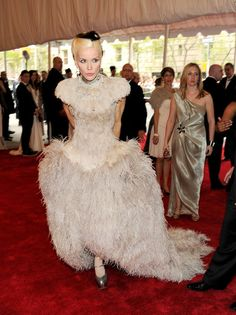 """Daphne Guinness attends the """"Alexander McQueen: Savage Beauty"""" Costume Institute Gala at The Metropolitan Museum of A..."""